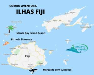 O que fazer nas Ilhas Fiji - Pizzaria Cloud 9 - Mergulho com tubarões - Arraia manta