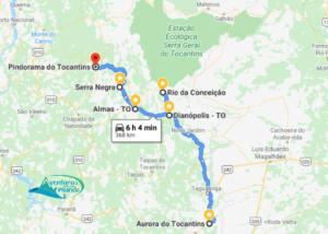 Mapa Serras Gerais