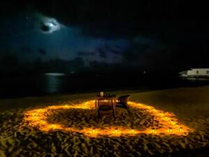 Amilla Resort - Jantar privativo na areia