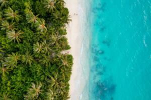 Ilha local Maldivas - Dhigurah